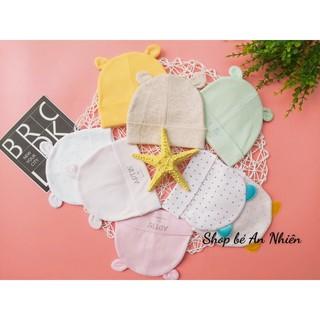 Nón cotton cho bé sơ sinh-co dãn tốt,vải mềm mịn