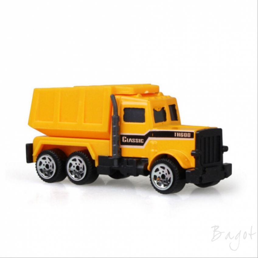 Bagot Children's toy excavator sliding alloy car model mini engineering set vehicle