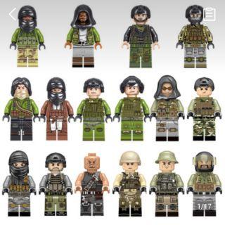 (Hàng có sẵn) Nhân vật Lego : Lính quân đội và Quân khủng bố
