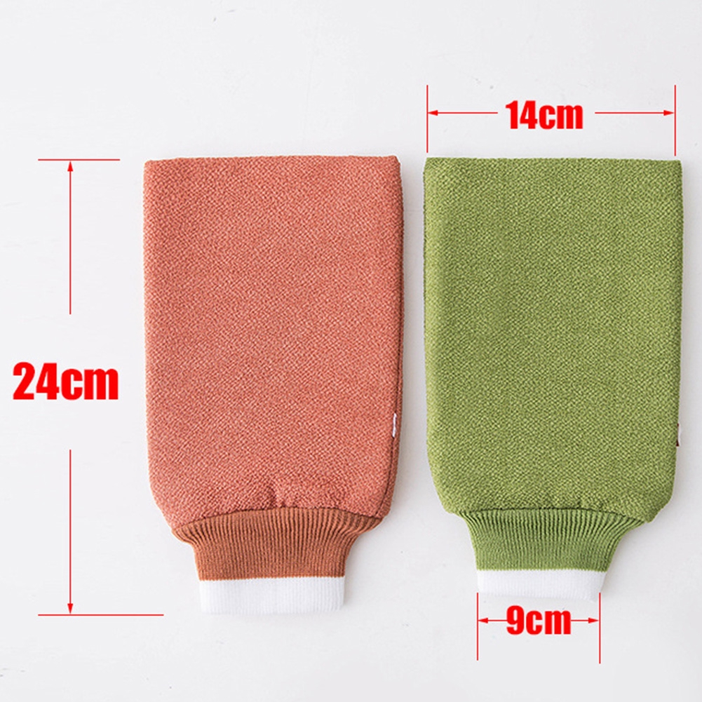 Bath Mitt Shower Gloves Loofah Exfoliating Cleansing Body Scrubber Soft Candy Color Massage Relax Bathroom