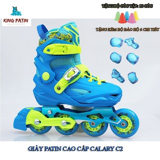 Giày Patin Cao Cấp Calary C2 xanh [Kingpatin]