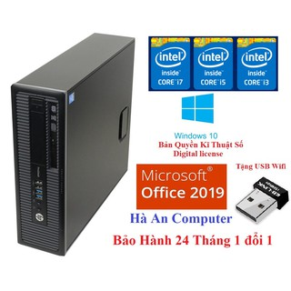 Cây Máy Tính core i7 Siêu Nhanh HP ProDesk 600 G1 H03 CPU i7 4770, Ram 8gb, SSD 120Gb Bảo Hành 24 Tháng Tặng USB wifi