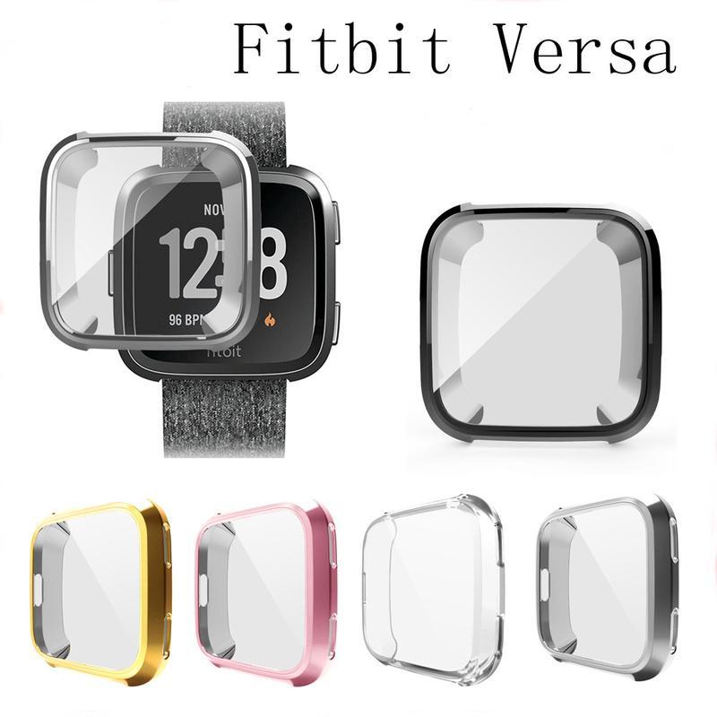 Ốp lưng silicon kiểu dáng đơn giản sang trọng dành cho đồng hồ thông minh Fitbit versa