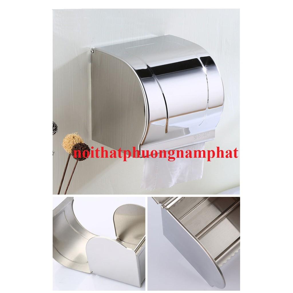 Hộp Đựng Giấy Vệ Sinh Hộp giấy Bằng 100% INOX 304 gắn tường trong nhà tắm HG5 HỘP GIẤY BÓNG