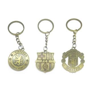 NBY❤❤Football Club Metal Badge Keyring Key Chain Soccer Souvenir Phone B