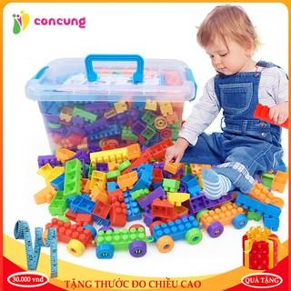 Đồ chơi trẻ em, Bộ đồ chơi xếp hình lego lắp ghép phát triển trí tuệ loại 100, 256, 520 chi tiết tùy chọn thumbnail