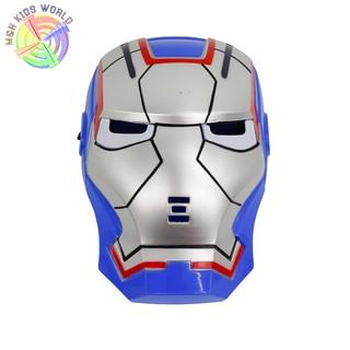 Mặt nạ Người Sắt IRONMAN BLUE STEEL có đèn, đồ chơi trẻ em lứa tuổi 3+ mặt nạ hóa trang, halloween, trang phục cosplay