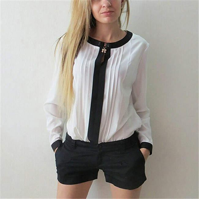 SOFT Pleated Shirt Blouse Top