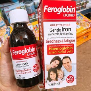 Sắt dạng nước Feroglobin 200ml, hàng Anh thumbnail