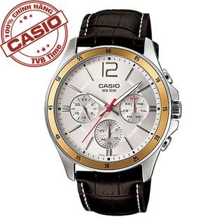 Đồng hồ nam dây da Casio Standard chính hãng Anh Khuê MTP-1374L-7AVDF (43mm)