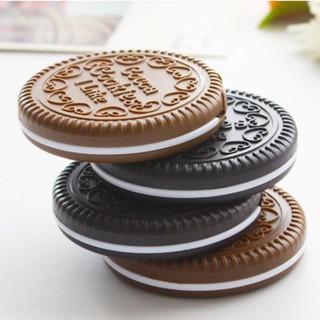 Gương cầm tay trang điểm kèm lược hình bánh quy Cookies