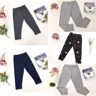 Quần legging size lớn thu đông trơn có size cho bé từ 9-14 tuổi.