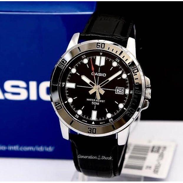 Đồng hồ nam dây da Casio MTP-VD01L-1EV chính hãng