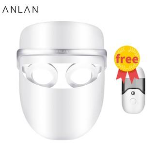 Mặt nạ LED ANLAN ngừa mụn và cải thiện thâm + bình xịt nano cao cấp