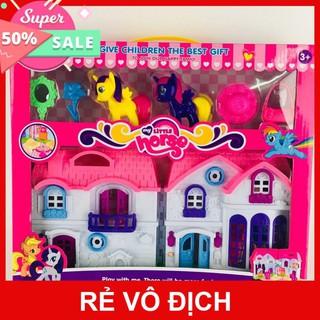 Sale 11.11 Hộp Đồ chơi Lâu Đài ngựa Pony cho bé gái, Đồ chơi búp bê bé gái.