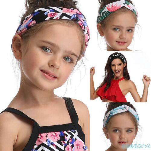 ✦♛✦New Hot Cute Wide Headband Flower Print Stretch Hairband Elastic Hair Bands Turban Girl