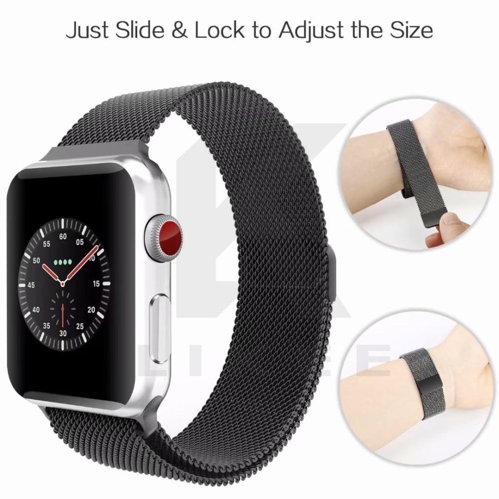 Dây đeo đồng hồ Thép không gỉ Milanese Apple Watch Strap Band 6 42mm 38mm 40mm 44mm bằng inox cho...