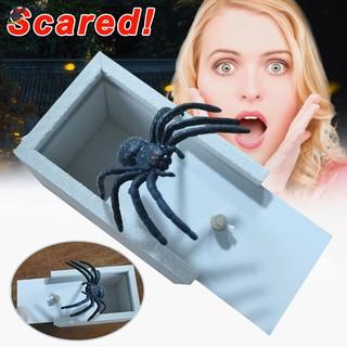 LL Prank Spider Scare Box Case Joke Lifelike Funny Surprise Gag Toy Kids Gift @VN