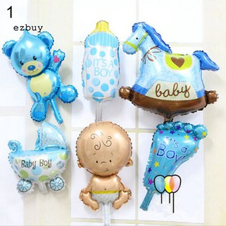 【EY】6 Pcs/Set Angel Baby Shower Foil Balloons Kid Boy Girl Birthday Party Decoration