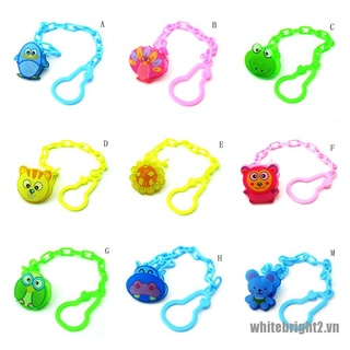 {WHITE} Baby Pacifier Chain Soothers Chain Clip Holder Baby Feeding Product