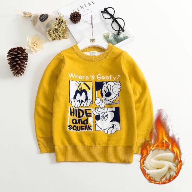 Áo len chuột màu vàng