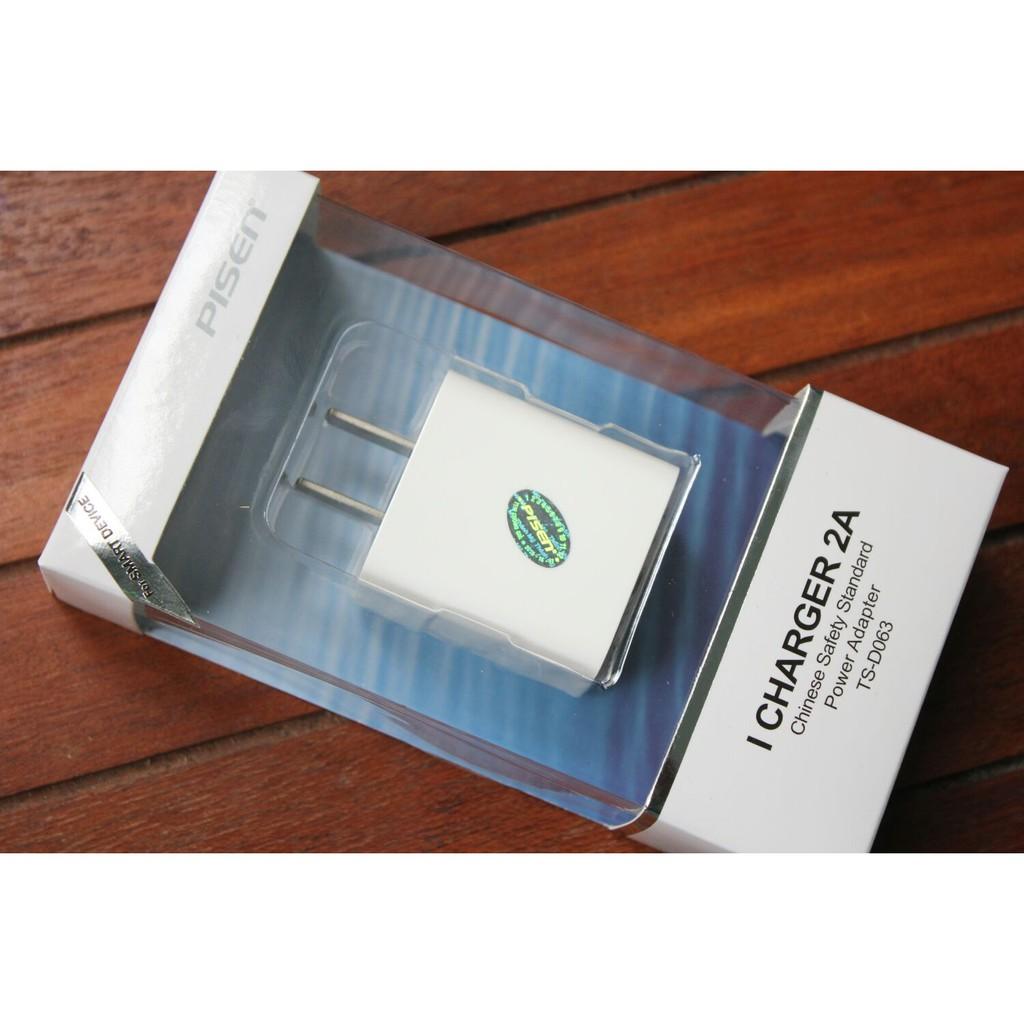 Cốc sạc Ipad 2A chính hãng Pisen, Patech phân phối bảo hành 18 tháng.