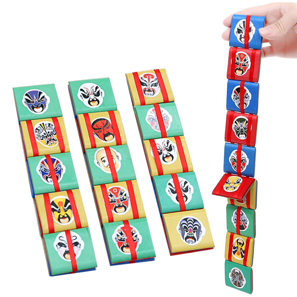 Wooden Flip Over Flap Toy Colorful for Children Funny Magical Hand Block