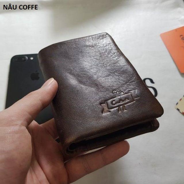 2019 Contact's Wallet Bóp Ví Đứng Bỏ Túi Da Bò Thật Cao Cấp KITM1002 ContactsNam Nữ