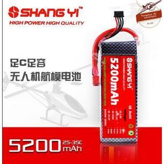 [Mã TOYSUMMER giảm 10% đơn tối đa 100K đơn từ 99K] Pin Lipo ShangYi 2s, 3s, 5200 mAh 35C – XT60