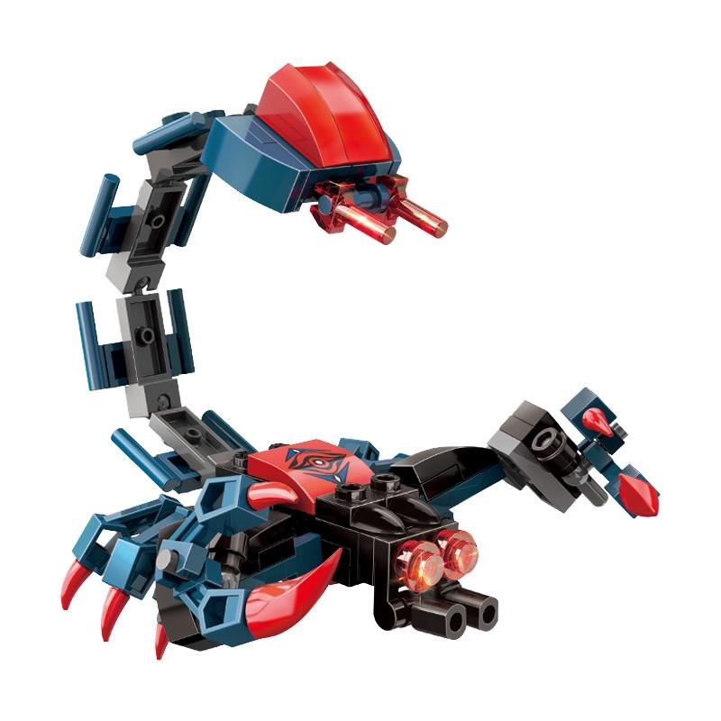 Đồ chơi giáo dục Xếp hình đồ chơi mô hình robot bò cạp cực ngầu cho bé