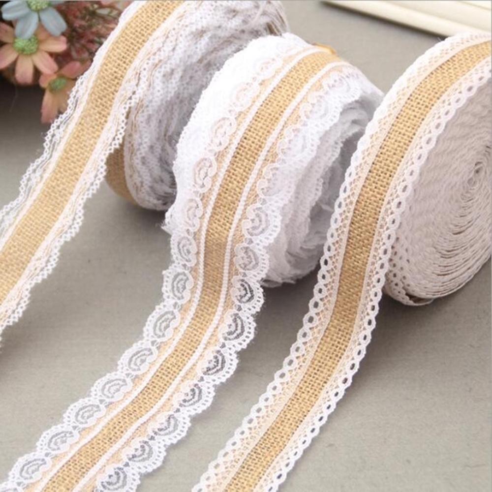 Cuộn dây ruy băng bằng vải bố dài 2m dùng trang trí tiện dụng