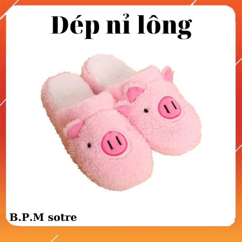 Dép Đi Trong Nhà Nỷ Bông Hình Lợn , Dép Được Bọc Bông Đi Trong Nhà , Dép Giúp Giữ Ấm Chân , Dép Lê Siêu Êm giá rẻ