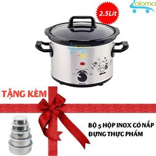 Nồi nấu chậm hầm kho nấu cháo dinh dưỡng 2.5 lít BBcooker BS25 - Tặng bộ 5 hộp Inox thumbnail