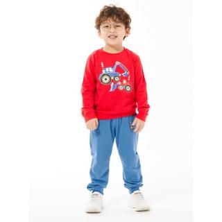 Bộ áo quần nỉ dài bé trai Rabity 90803