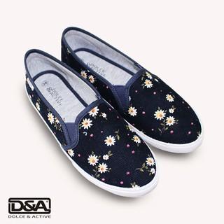 Giày slipon nữ thời trang D&A L1727 xanh chàm