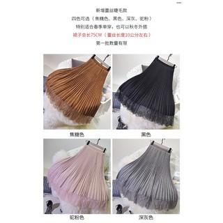 Chân Váy Chiffon Chữ A Lưng Cao Xếp Ly Thời Trang 2020