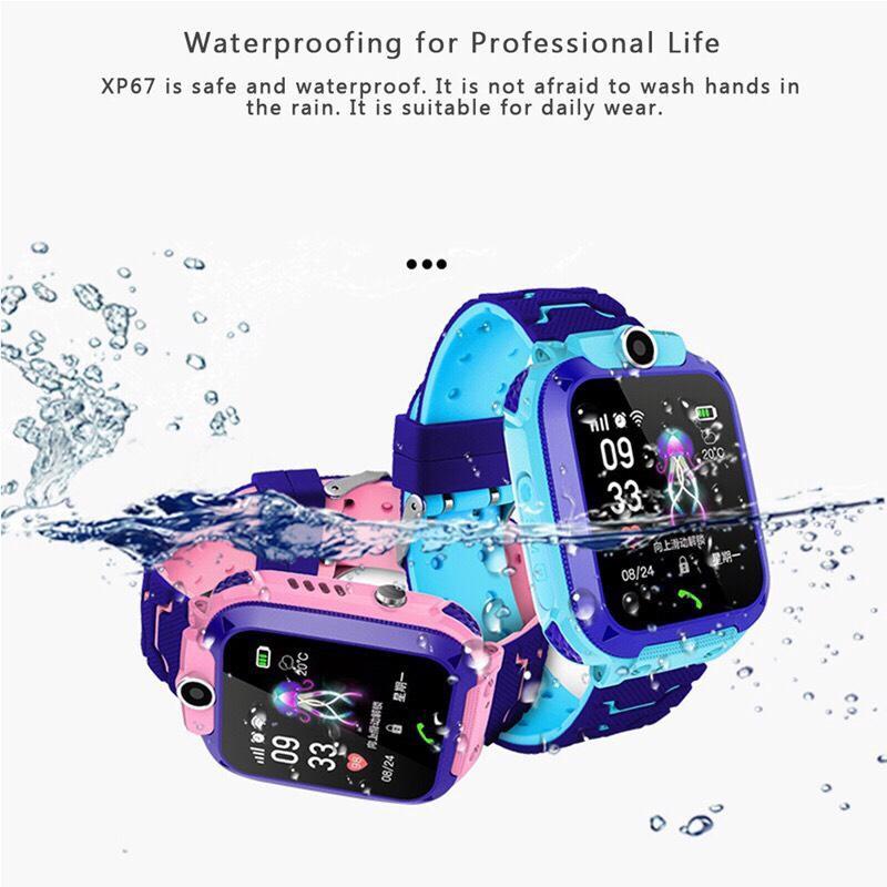 Đồng hồ định vị trẻ em chống nước A28 Gắn sim nghe và gọi hai chiều - có camera và tiếng việt