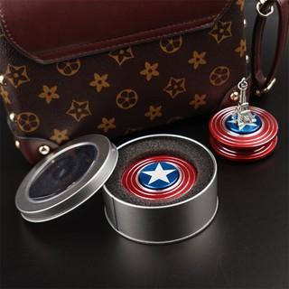 Đồ Chơi Con Quay Cao Cấp Fidget Spinner Captain America ( Đội Trưởng Mỹ ) Cực Chất- Có hộp đựng