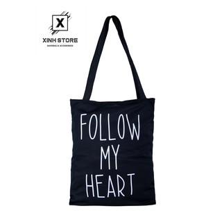 Hình ảnh Túi Vải Đeo Vai Tote Bag Follow XinhStore-0
