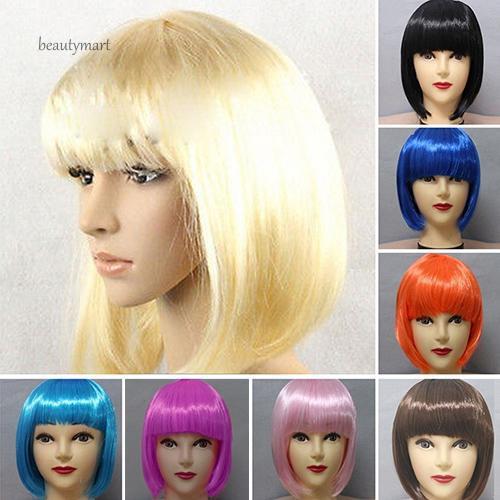 Bộ tóc giả ngắn mái ngang nhuộm màu thời trang dành cho nữ - 15122451 , 2694559360 , 322_2694559360 , 99000 , Bo-toc-gia-ngan-mai-ngang-nhuom-mau-thoi-trang-danh-cho-nu-322_2694559360 , shopee.vn , Bộ tóc giả ngắn mái ngang nhuộm màu thời trang dành cho nữ