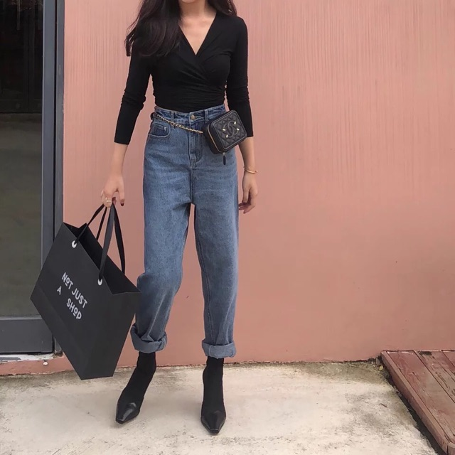 Áo cotton cổ chéo sexy | SaleOff247