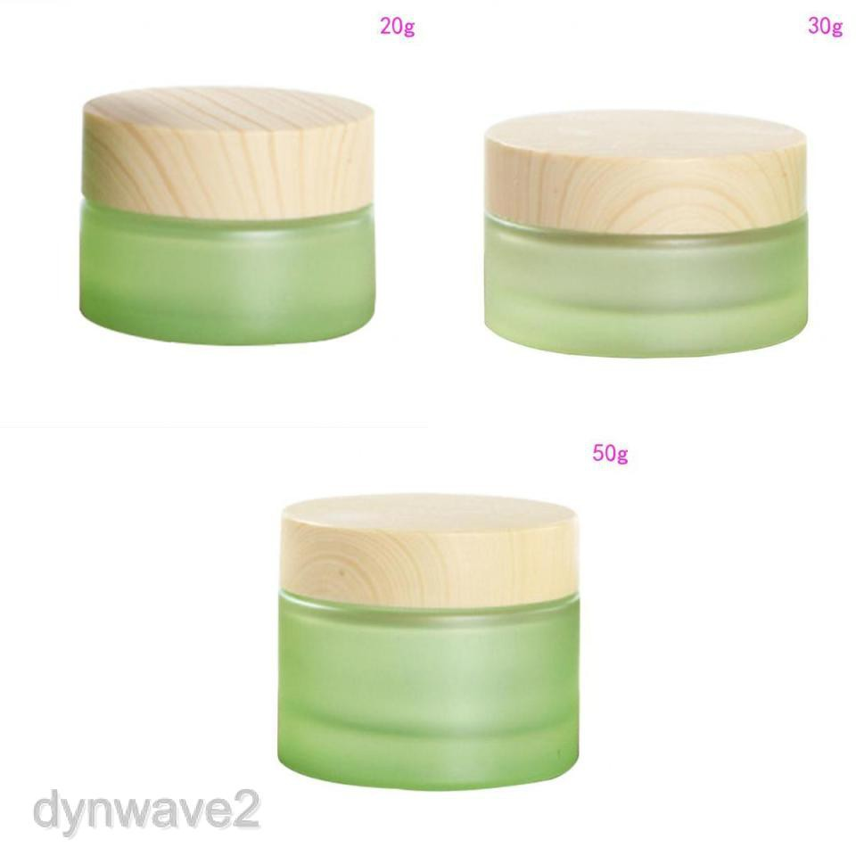 Empty Face Cream Glass Bottle Refillable Lip Balm Lotion Sample Jar+Lid