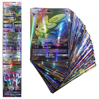 Set 100 thẻ bài pokemon tiếng Anh màu sắc bắt mắt vui nhộn cho bé