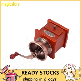 Magicstore Mini Vintage Hand-Cranked Coffee Bean Mill Manual Grinder for Household Use