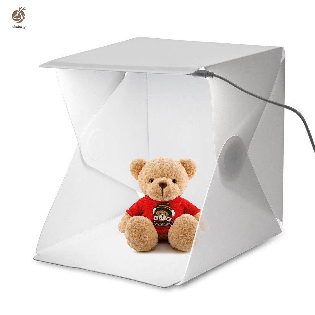 Portable Foldable Mini Photo Studio Box Light Room With LED Lamp + 2 Background Photostudio Photogra