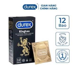 [KING DUREX] Bao cao su Durex Kingtex vừa vặn với đã số đàn ông người Việt Nam (12 bao/1 hộp bcs)
