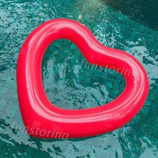 FUN♫ Heart Shape Inflatable Swimming Ring Pool Float Giant Mattress For Water Fun Toy