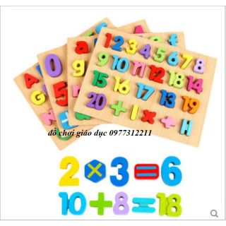 Combo bảng chữ cái và số