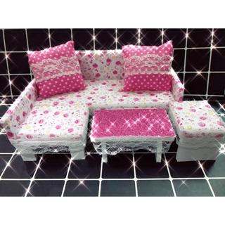 Bộ ghế sofa handmade cho búp bê