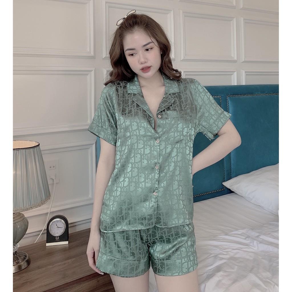 Mặc gì đẹp: Mát mẻ với Đồ Bộ Pijama - Bộ lụa gấm cộc-đùi cao cấp [hàng chuẩn kèm Video+ảnh thật] [HÀNG CHUẨN ĐẸP]